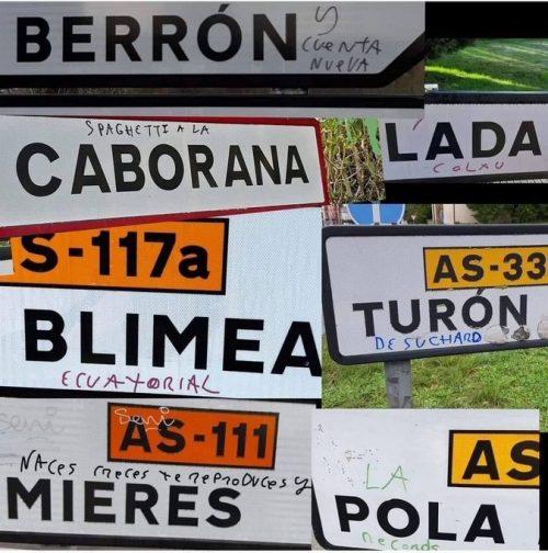 """Las """"obras"""" del llamado Bansky Asturiano"""