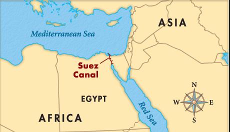 Los países que más se benefician con el canal Suez